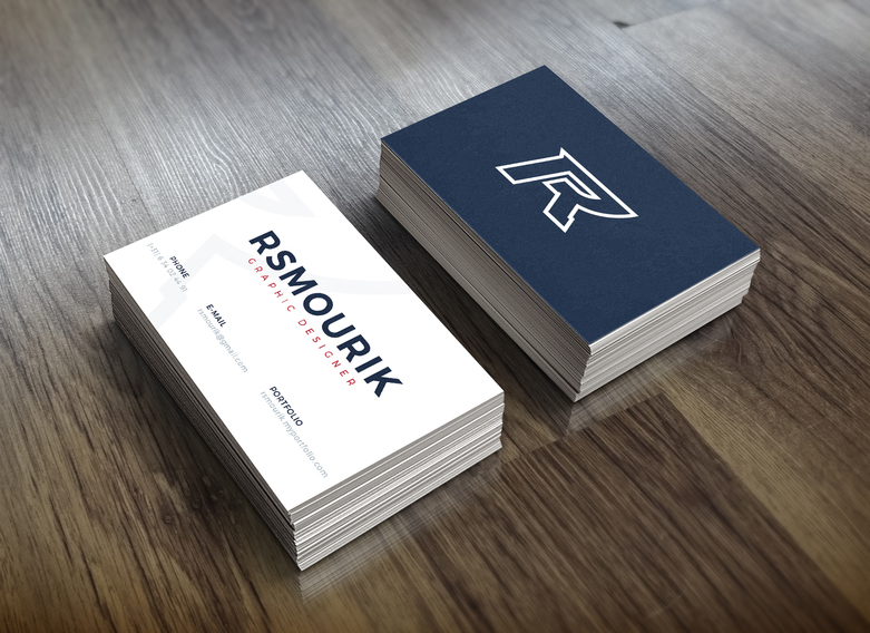 Rsmourik business cards mock up
